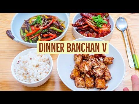 Dinner Banchans V: Beef Asparagus Stir-fry, Sweet Crispy Tofu & Yangnyeom Gejang!