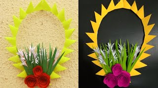 Paper Flower Wall Hanging -DIY Hanging Flower - Wall Decoration Idea.