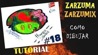 TUTORIAL COMO DIBUJAR UN HONGO ZOMBIE FACIL Y RAPIDO # 18