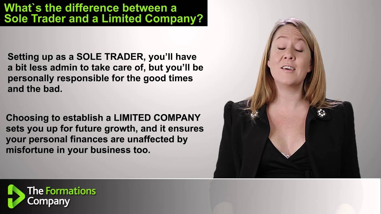 sole trader vs private limited company The limited company structure ultimately offers the highest rate of take-home pay because of the opportunities available for saving tax, the difference can be considerable compared to working as a sole trader on exactly the same turnover.