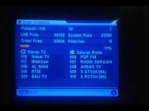 cara mencari frekuensi siaran tv sctv dan indosiar terbaru