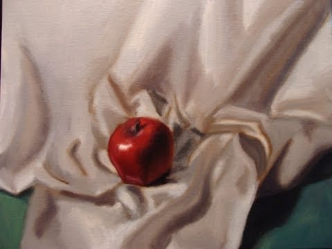 Speed Painting: apple and fabric folds