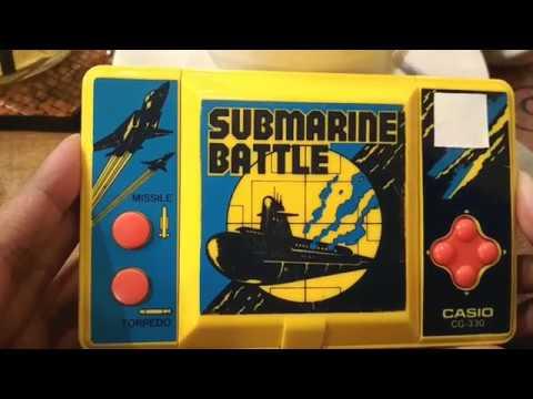 Gimbot Kapal Selam generasi 90an - Review Game Watch Casio Submarine Battle Gameplay