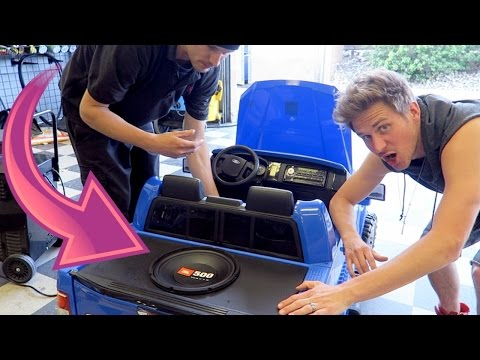 Custom Toy Car SOUND SYSTEM!
