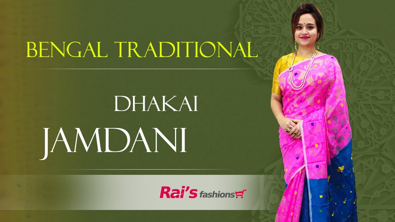 Bengal Traditional Dhakai Jamdani Sarees Collection (18th January) - 18JY