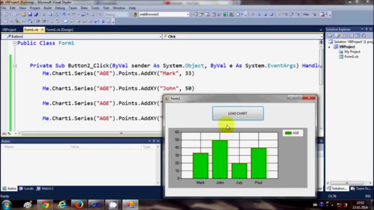 How to use chart and graph in visual basic youtube how to use chart and graph in visual basic nvjuhfo Gallery