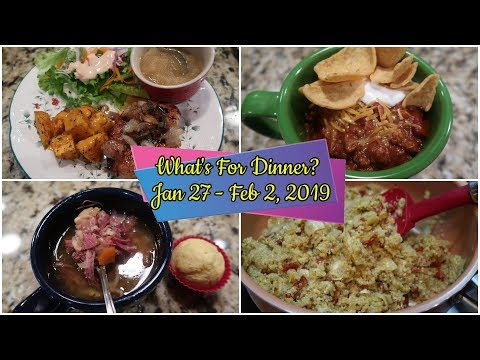 What's For Dinner?  Jan 27 - Feb 2, 2019 | Cooking For Two