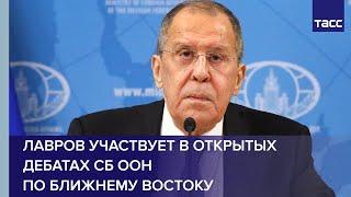 Лавров участвует в открытых дебатах СБ ООН по Ближнему Востоку