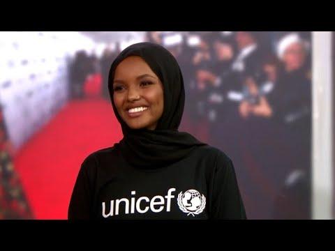 Hijab-wearing model Halima Aden becomes UNICEF ambassador