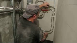видео Гофрированные пластиковые трубы для отопления