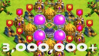 "MOST LOOT POSSIBLE! - Clash of Clans - ""3 MILLION LOOT IN ONE RAID WTF!"" The #1 Loot Video Ever?!"