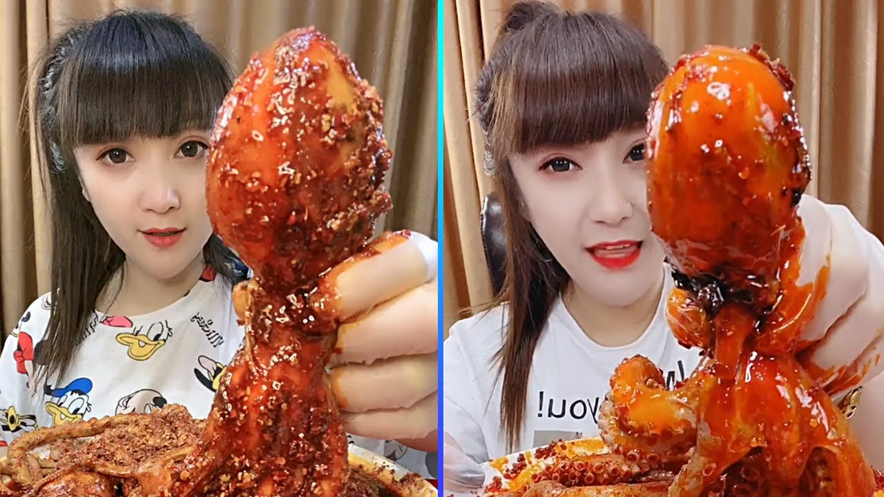 ASMR Amazing Spicy Seafood Octopus Eating Show Compilation & Chinese Food Eating challenge#41