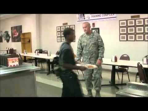 Air Force BMT Zero week lunch - YouTube.flv