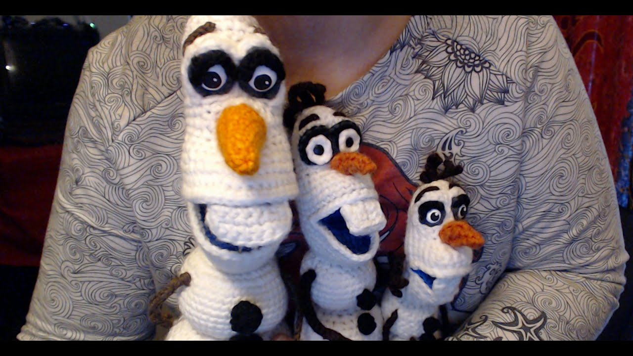 Amigurumi Olaf Tutorial : Wanna make a snowman? crochet olaf dolls youtube