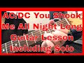 Download You Shook Me All Night Long Guitar Lesson - Including Solo MP3 song and Music Video
