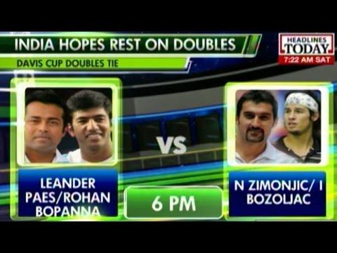 Davis Cup 2014: India vs Serbia: Paes & Bopanna vs Zimonjic & Bozoliac