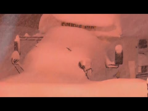 Raw: Erie, Pennsylvania Snowfall Over 65 Inches