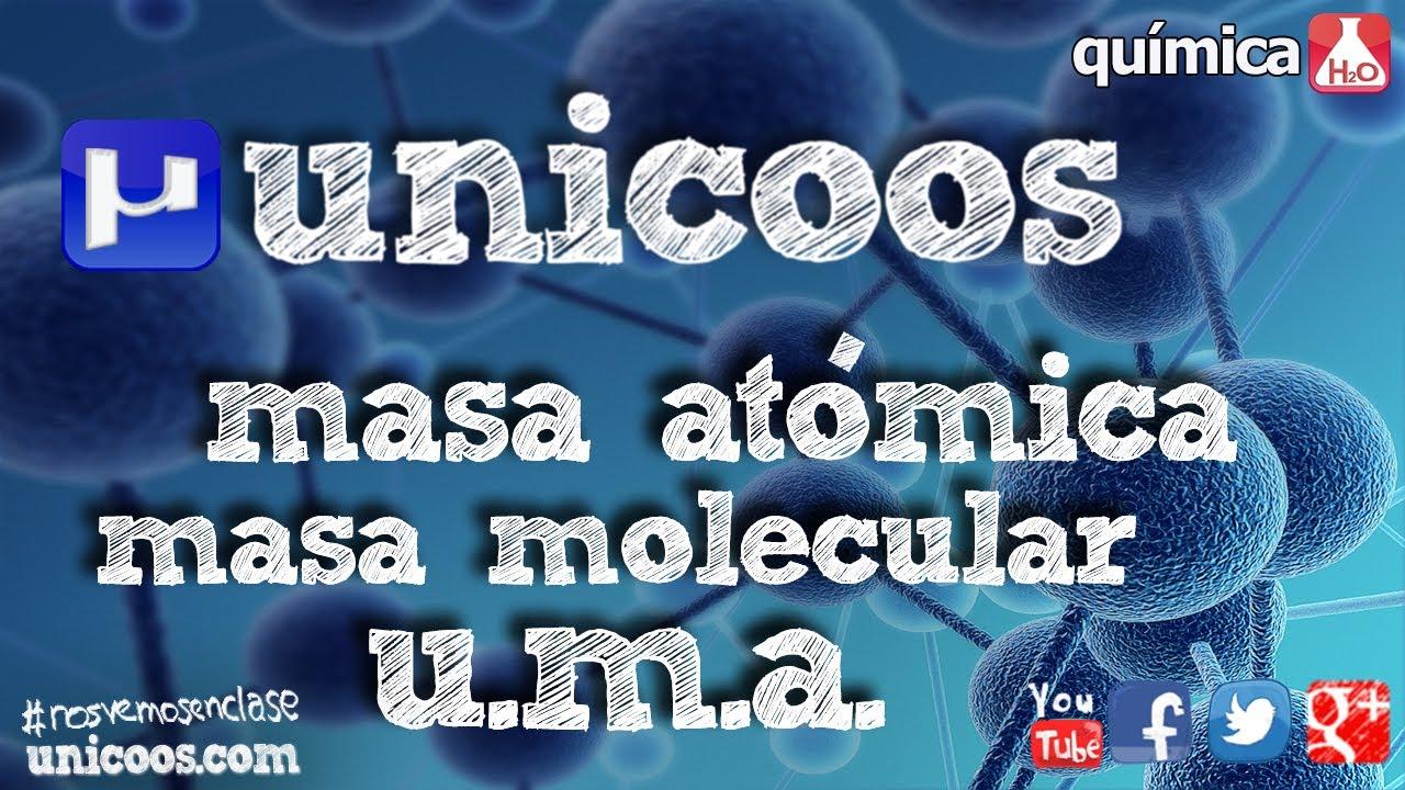 Quimica masa atmica molecular y molar secundaria 4eso uma youtube urtaz Image collections