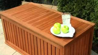 Hyde Park 4 Ft  Wood Outdoor Storage Deck Box - Product Review Video