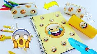 DIY |3 ideias legais para fazer com material escolar | Emoji | Viviane Magalhães thumbnail