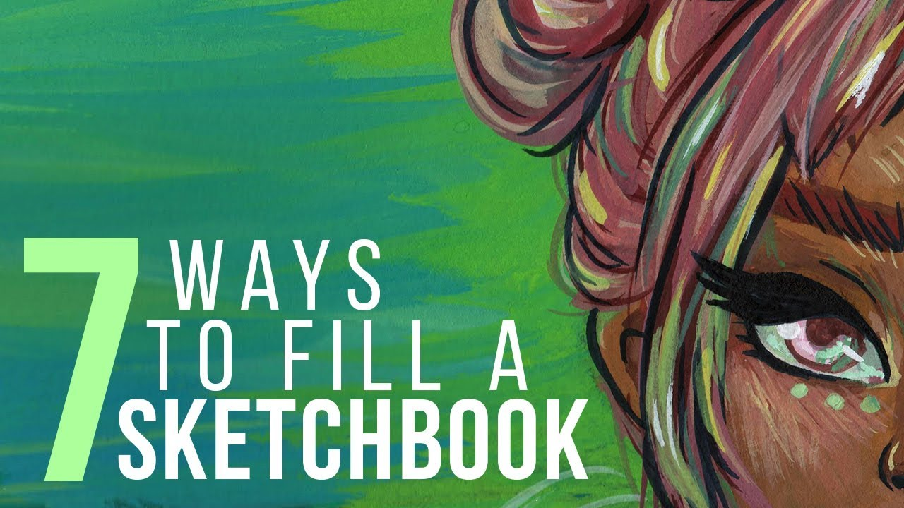 7 ways to fill a sketchbook sketch with me gouache speed paint electric youtube. Black Bedroom Furniture Sets. Home Design Ideas