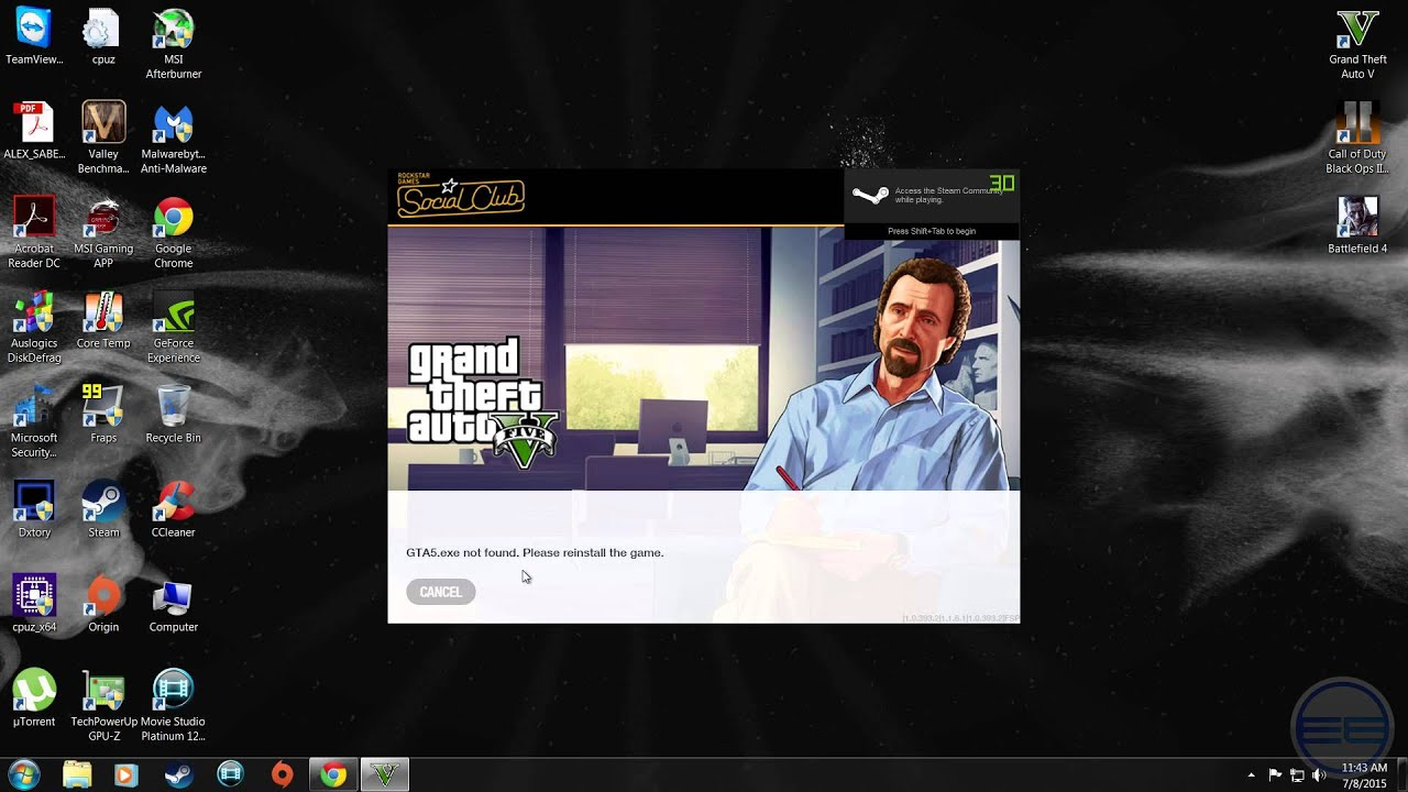 How to fix Gta5 exe not found