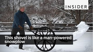 This shovel is like a man-powered snowplow