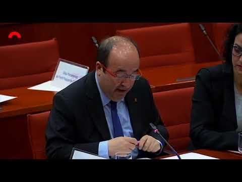 Intervenció de Miquel Iceta a la Diputació Permanent del Parlament