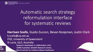 Automatic search strategy reformulation interface for systematic reviews