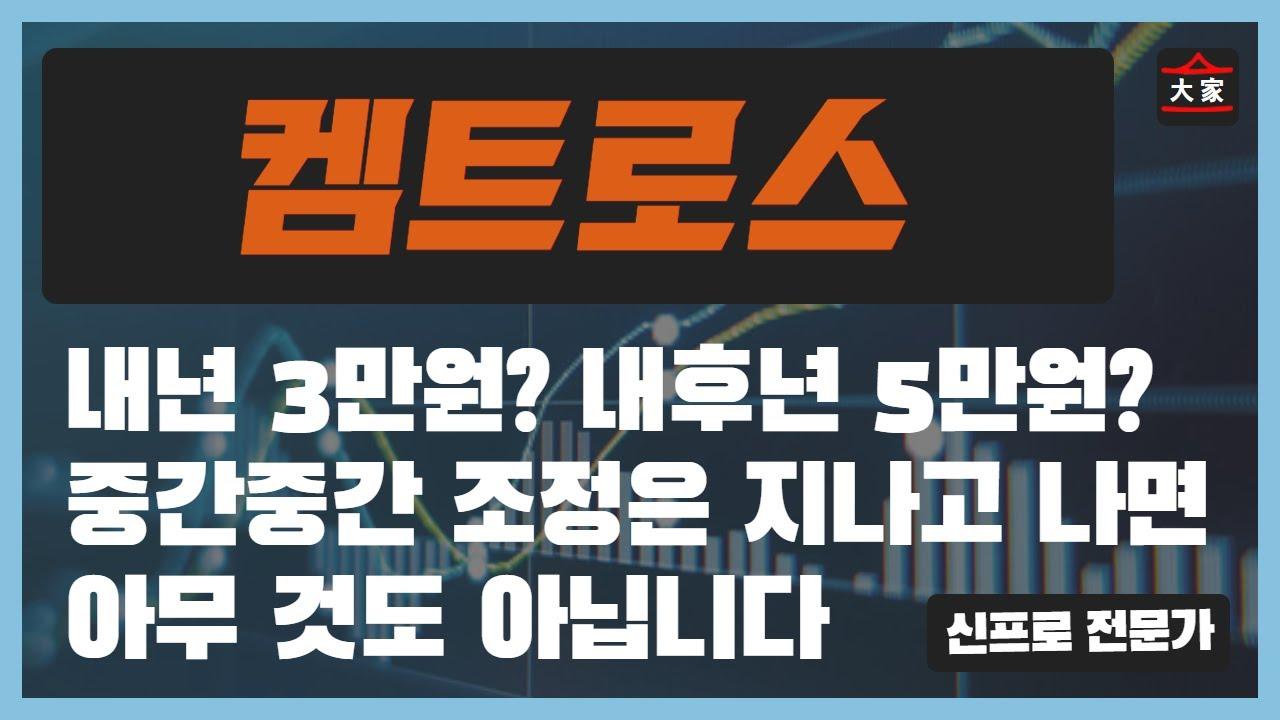 켐트로스 주가 전망 - 내년 3만원? 내후년 5만원? 중간중간 조정은 지나고 나면 아무 것도 아닙니다.
