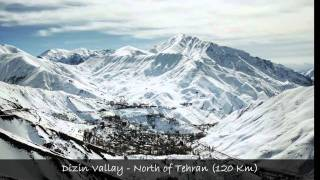 Alborz mountain range, Dasht-e Kavir, Dasht-e Lut