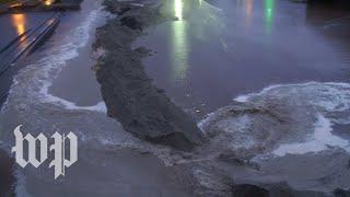 Temporary levee breaks in Lumberton, N.C.