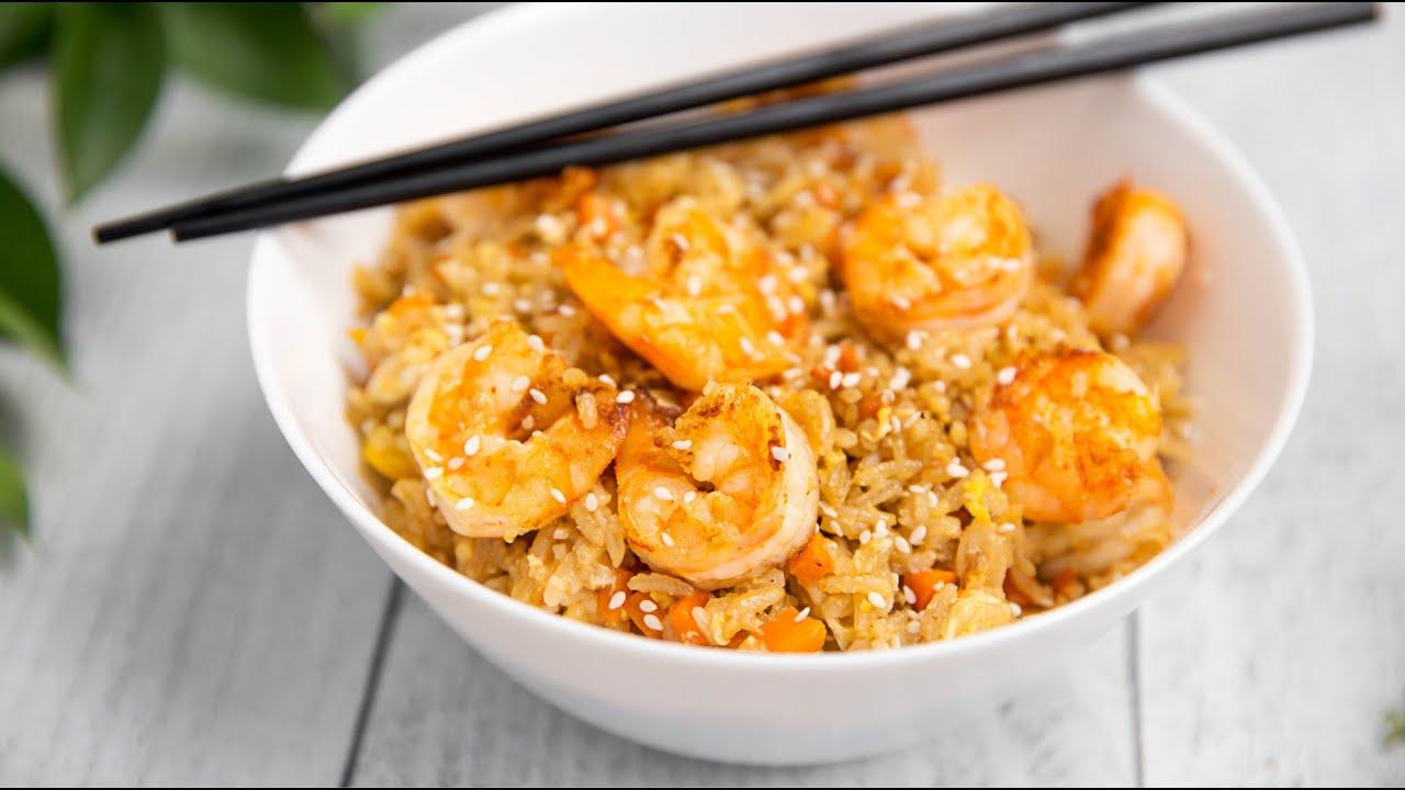 Жареный рис с Креветками и Овощами - Вкусный ужин за 30 минут - Азиатская кухня