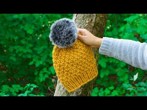 The Alpes Hat Easy Knitting Pattern With Circular Needles Cj
