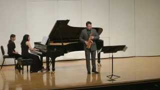 Sonate for alto saxophone and piano by Edison Denisov