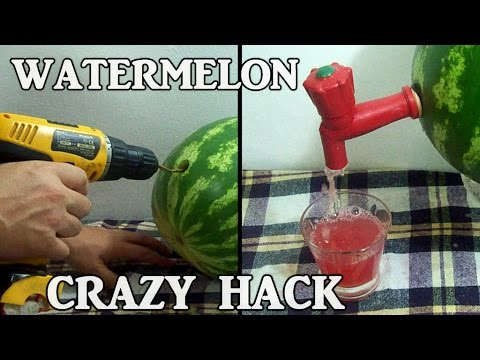 Crazy Watermelon Hack In 2 minutes - No Mess - YouTube