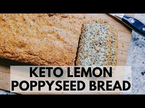 Lemon Poppy Seed Bread | Keto + Low Carb | 1.5 Net Carb per slice!