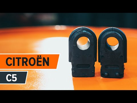 How to replace Front stabilizer bushes on CITROËN C5 TUTORIAL | AUTODOC