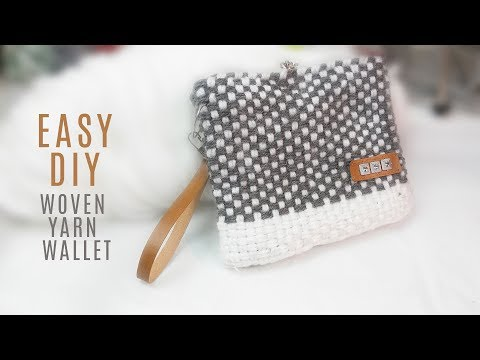 Easy DIY woven yarn purse/wallet