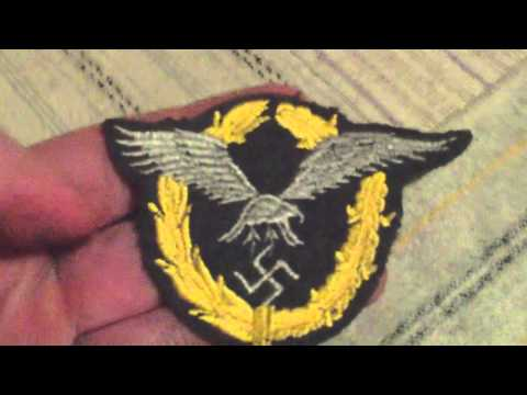 WORLD WAR TWO GERMAN AIR FORCE COMBINED PILOT AND OBSERVER BADGE,NCO THREAD