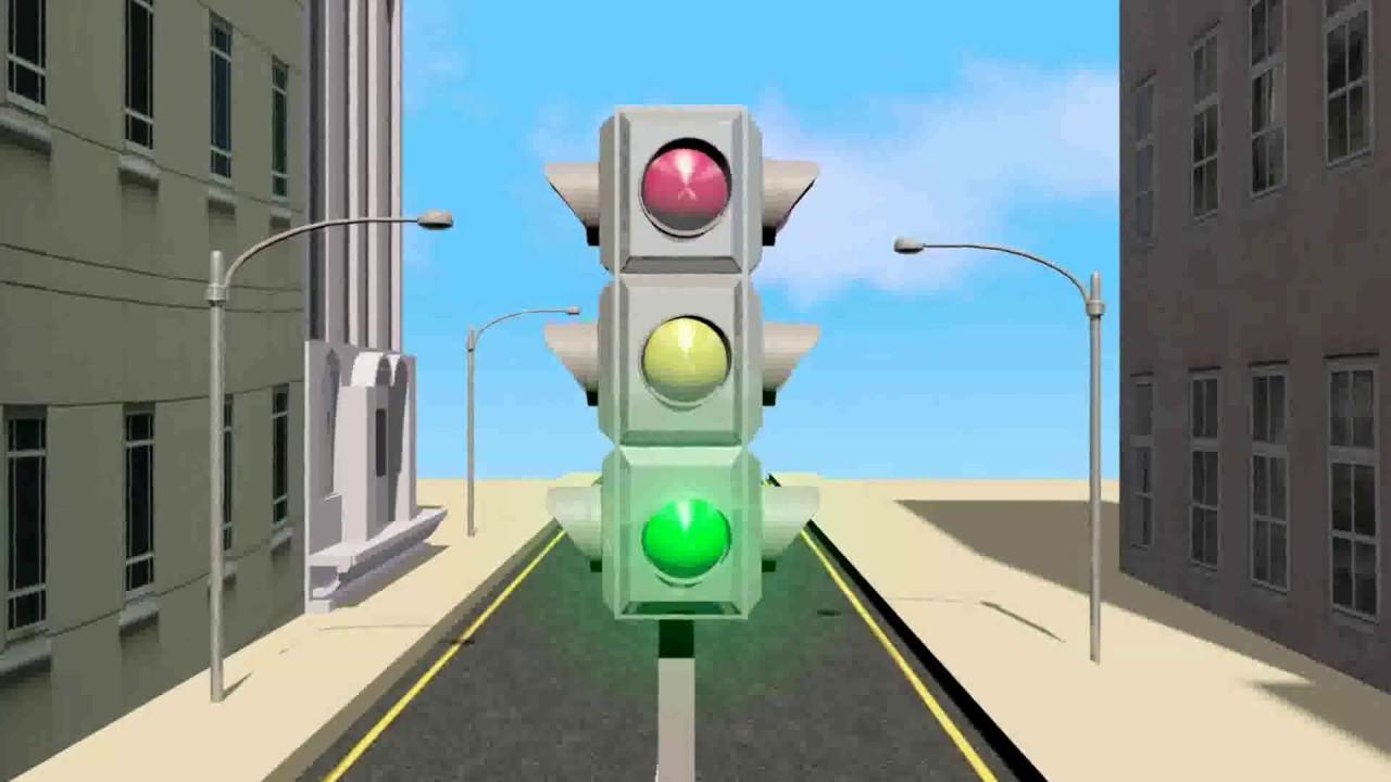 Картинка анимашка светофор для детей