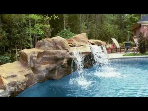 Wondrous Home Landscaping with Pool and Plants