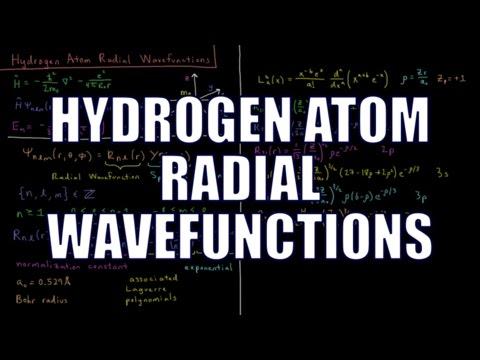 Quantum Chemistry 7.3 - Hydrogen Atom Radial Wavefunctions