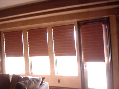 Motorized hunter douglas vignette blinds youtube for How to install motorized blinds