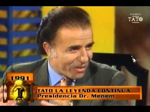 Tato Bores comió junto fideos junto a Carlos Menem