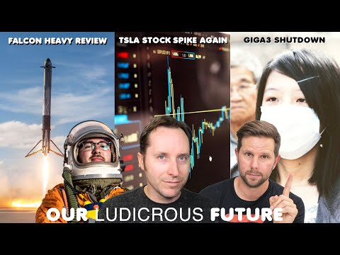 Tesla Stock Up And Down, Gigafactory Factory Shut Down, 2 Year Review Of Falcon Heavy - Ep 70