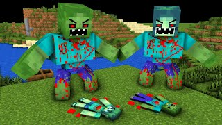 Monster School: Poor Baby Zombie Life Sad story but happy ending - minecraft animation