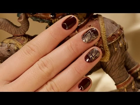How To Create Oriental Nail Design On Short Nails