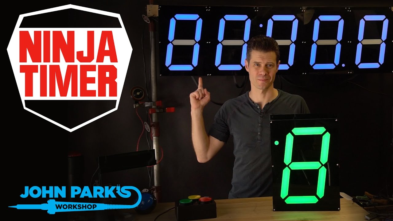 John Parks Ninja Timer Giant Display Build Adafruit How To 28 Led Clock Johnedgarpark