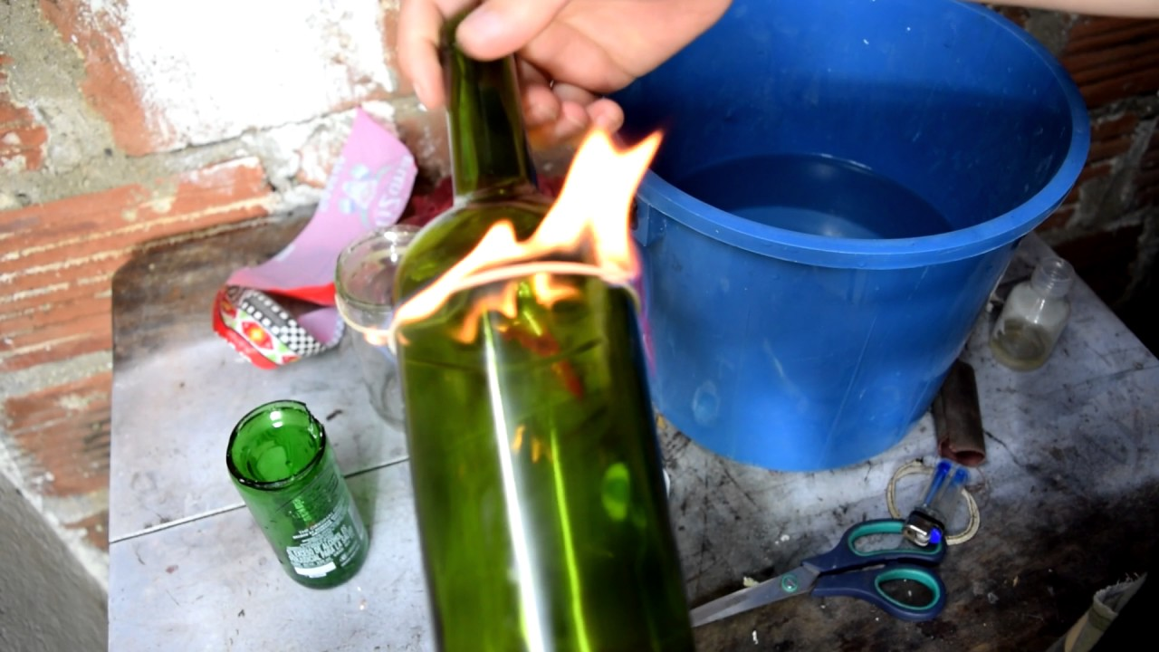 Cortar botella de vidrio f cil y rapido youtube - Cortar botella cristal ...